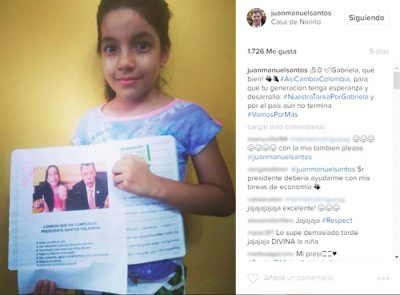 President of Colombia Helps Adventist Fourth-grader with Homework